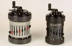 """Curta mechanical calculators. I'm reading William Gibson's """"Pattern Recognition"""", and these show up."""
