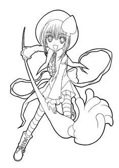 Shugo chara anime coloring pages for kids, printable free