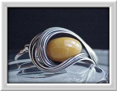bracelet - natural amber (old) and silver