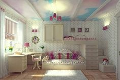 Teen Girl Bedrooms for sweet comfy room - Georgeous room decor examples. Tip note 5841755275 Filed under teen girl bedrooms decorating ideas with lights , created on this day 20190322 Teenage Girl Bedroom Designs, Girls Room Design, Teenage Girl Bedrooms, Girls Bedroom, Bedroom Decor, Bedroom Ideas, Bedroom Inspiration, Dream Bedroom, Bedroom Ceiling