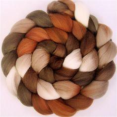 CAPPUCCINO Handpainted Merino Wool Roving