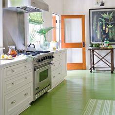 PAINT KITCHEN FLOOR?  GREAT STURDY LOOKING SCREEN DOOR 100 Comfy Cottage Rooms - Coastal Living