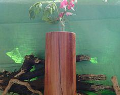 Segmented Wood Vase  Bubinga & Movingui
