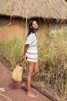 In love with Liya Kebede's Lemlem tunic, exclusively for J. Crew