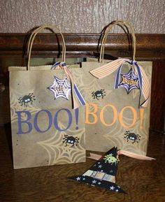 Halloween party Gift Bags by sghartman