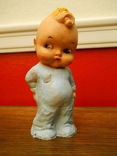Vintage Rubber Crybaby Doll 1960-1970 Wild Hair Unmarked ...