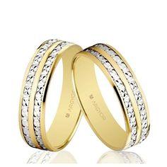 Alianzas boda Oro 1ª Ley 18Kts bicolor 5mm facetada Argyor 5250464 18K