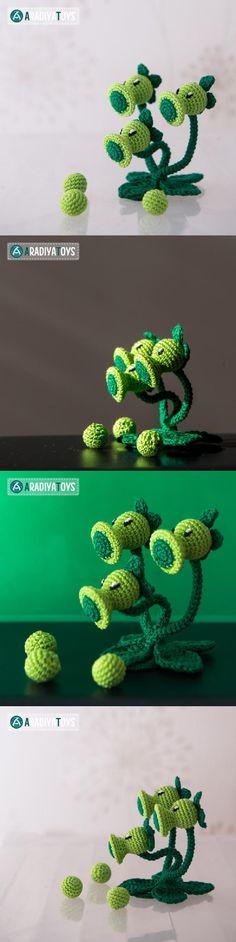 Threepeater (Plants Vs. Zombies) Amigurumi Pattern