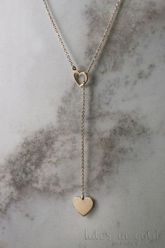 Heart Necklace Gold Necklace Yellow Gold 14 Karat by TalesInGold Cute Jewelry, Gold Jewelry, Jewelry Accessories, Jewelry Necklaces, Jewelry Design, Heart Necklaces, Pearl Bracelets, Pearl Rings, Couple Bracelets