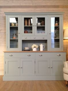 Handmade Painted 6ft Welsh Dressers & Sideboards, Welsh Dresser Tops, Handmade Welsh Dressers, Cheap Welsh Dressers, Painted Welsh Dressers, Welsh Dresser for Sale, Shabby Chic Welsh Dressers, Welsh D FRENCH GREY TO MATCH COFFEE TABLE