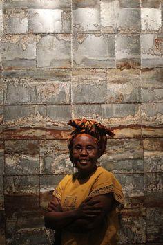 African artist shows her metal Southwest School Of Art, African Artists, Buddha, Statue, Metal, Google, Metals, Sculptures, Sculpture
