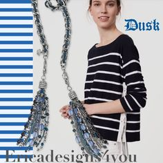 So many ways to style the Dusk necklace by Premier Designs. Drape it down your back and wear as a choker in the front for a seriously on trend look.