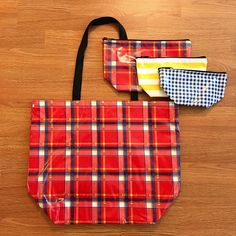 Our New Plaid Red is now available in Large Tote! And Perfect for Fall! …