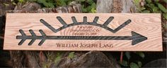 Beautiful Wood Signs for Arrow of Light