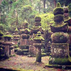 #cemetery #buddhism #japan #koyasan #okunoin #fiveelements #tombstones #forest