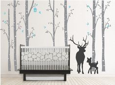 Darling! Love this decal with the buck and baby!!! Cute for any kids room!