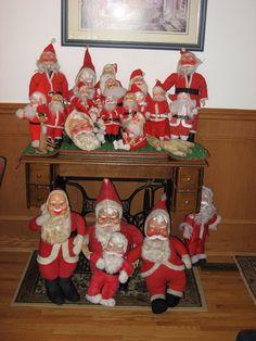 My Vintage Santa collection Antique Christmas, Christmas Past, Christmas Items, Diy Christmas Gifts, Christmas Holidays, Christmas Ornaments, Christmas Classics, Christmas Mantles, Xmas