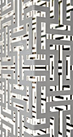 Dafne and Demetra laser-cut metal partitions and elements desigend by Ludovica and Roberto Palomba, manufactured by De Castelli
