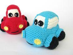 Happy Car :: PDF Crochet Pattern / Amigurumi from DioneDesign by DaWanda.com