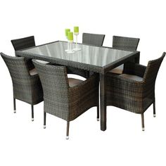 BrackenStyle 6 Seater Dining Set with Cushions & Reviews | Wayfair.co.uk