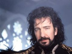 """(Which was the only good thing about this movie!) """"I'm going to carve his heart out with spoon. It is dull. It will hurt more."""" Alan Rickman as The Sheriff of Nottingham in """"Robin Hood: Prince of Thieves"""" Severus Rogue, Severus Snape, Alan Rickman Robin Hood, Moustache, Alan Rickman Always, Alan Rickman Movies, I Look To You, Medieval, Star Wars"""