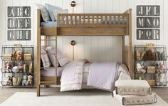 Shared bedroom. I want these bunk beds.
