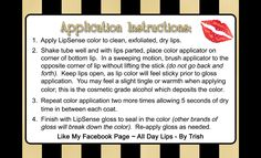 3x5 Application cards a perfect fit for the drawstring pouch holding your LipSense Order!