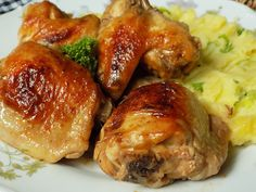 No Salt Recipes, Chicken Wings, Baked Potato, Ham, Pork, Potatoes, Menu, Baking, Health