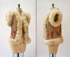 vintage 70s 1970 sheepskin vest 900 Miles Sherpa Vest