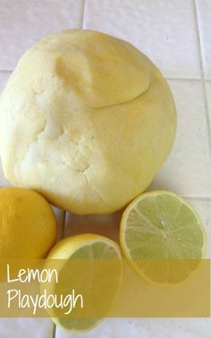 Lemon scented playdough for spring.  Awaken the senses through play!