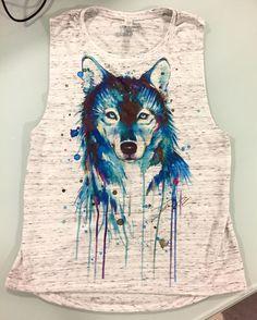 Dark Wolf Flowy Muscle Tee