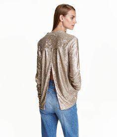 Paillettenshirt   Bronze   Damen   H&M DE