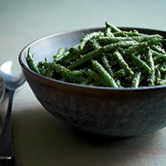 Lemon-Roasted Green Beans with Marcona Almonds | Recipe | Green Beans ...