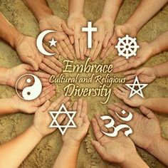 Instead of passing judgement and making criticisms - lets embrace our differences and learn from each other through unfamiliar perspectives. (not to be that person, but why are all the hands white if it's to embrace cultural diversity? We Are All One, We Are The World, Unity In Diversity, Cultural Diversity Quotes, World Religions, World Peace, Arabesque, Chakras, Wiccan