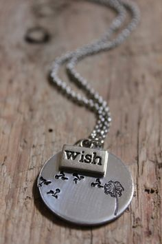 WISH Necklace  Metal Stamped Jewelry by JulieSaponaroPhoto on Etsy, $28.00
