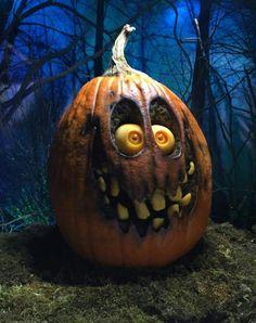 Scary pumpkin jackolantern #halloween