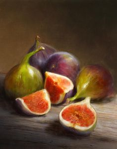 Figs Painting by Robert Papp