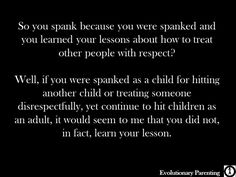 Let's Talk Spanking - Evolutionary Parenting