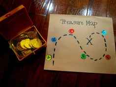 {Preschool Pirates Treasure Map} Love the rhyming clues they've included. So creative. #CampSunnyPatch