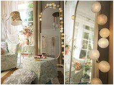 """Images from """"Creative retreat"""" project by interiordelight. Cotton Lights, Design Projects, Balls, Interior Design, Mirror, Creative, Furniture, Home Decor, Nest Design"""