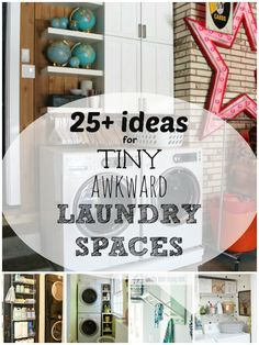 Small Laundry Solutions: Ideas for Your Tiny Awkward Laundry Space | Remodelaholic.com #laundrycloset #smallspace #inspiration @Remodelaholic .com