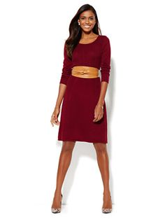 Shop Ribbed Flare Sweater Dress . Find your perfect size online at the best price at New York & Company.