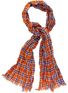 Scarf in Purple and Orange Madras by Olde School Brand