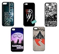 """""""Sleeping With Sirens Phone Case's"""" by jordanarney ❤ liked on Polyvore"""