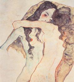 Two Women Embracing ~ Egon Schiele 1911