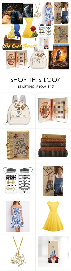 """""""🌹Beauty and the Beast Collage🌹"""" by gavanloud ❤ liked on Polyvore featuring Disney, Danielle Nicole, Judith Leiber, Charlotte Russe, BeautyandtheBeast and contestentry"""