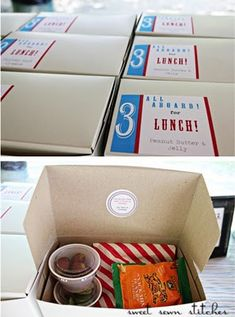 "Put together ""lunch boxes"" before the party instead of leaving food to sit out where bugs can get to it! I love this idea!"
