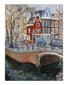 Red House at Amsterdam Canal (Reguliersgracht), Joan de Bot