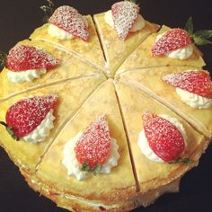 Strawberry mille crepes cake