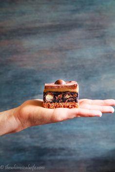 Salted Caramel No Bake Malteser Slice | The Whimsical Wife